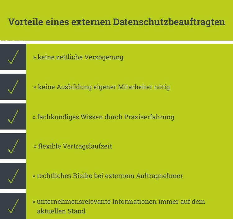 Vorteile eines externen Datenschutzbeauftragten